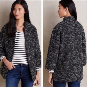 Anthropologie Elevenses Minka Marled Tweed Coat M